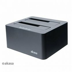 AKASA DuoDock X3, 2× Duálny HDD/SSD slot USB 3.1 Gen 1/AK-DK08U3-BKCM