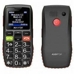 Aligator A440 Senior čierno-oranžový + Stolná nabíjačka