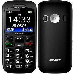 Aligator A670 Senior Black + Stolná nabíjačka
