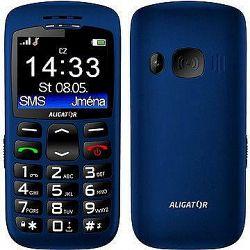 Aligator A670 Senior Blue + Stolná nabíjačka
