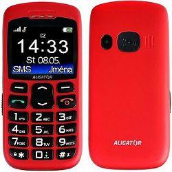 Aligator A670 Senior Red + Stolná nabíjačka