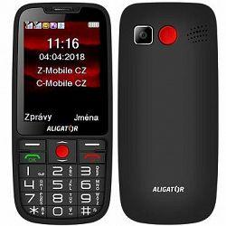 ALIGATOR A890 GPS Senior čierny