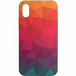 AlzaGuard – Apple iPhone X/XS – Rainbow Geometry Madness