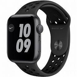 Apple Watch Nike SE 44 mm Vesmírne sivý hliník s antracitovým/čiernym športovým remienkom Nike