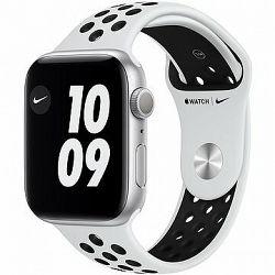 Apple Watch Nike Series 6 40 mm Strieborný hliník s platinovým/čiernym športovým remienkom Nike