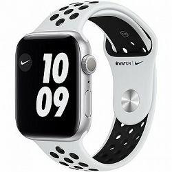 Apple Watch Nike Series 6 44 mm Strieborný hliník s platinovým/čiernym športovým remienkom Nike