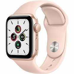Apple Watch SE 44 mm Zlatý hliník s pieskovo ružovým športovým remienkom