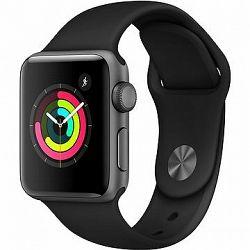 Apple Watch Series 3 38 mm GPS Vesmírne sivý hliník s čiernym športovým remienkom