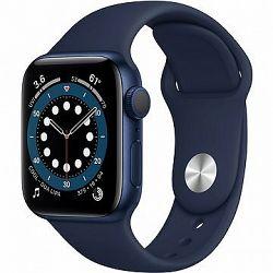 Apple Watch Series 6 40 mm Modrý hliník s námornícky modrým športovým remienkom