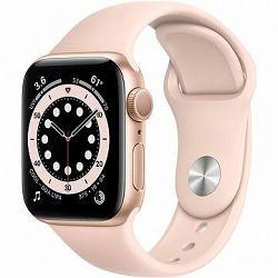 Apple Watch Series 6 40 mm Zlatý hliník s pieskovo ružovým športovým remienkom