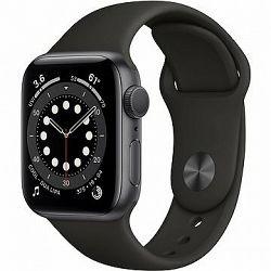 Apple Watch Series 6 44 mm Vesmírne sivý hliník s čiernym športovým remienkom