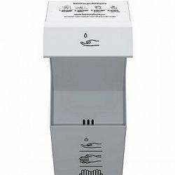 BOROVKA RENTAL CITY bezdotykový stojan na dezinfekciu -11-litrová antikorová nádrž - sivý