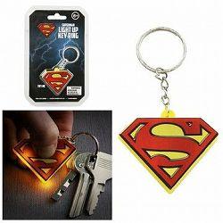 DC COMICS Superman – svietiaca kľúčenka