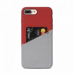 Decoded Leather Back Cover Red/Grey iPhone 8 Plus/7 Plus/6s Plus