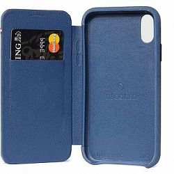 Decoded Leather Slim Wallet Blue iPhone XS Max