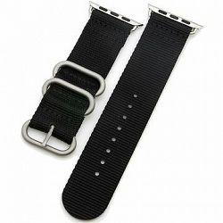 Eternico Apple Watch 42 mm/44 mm Nylon Band čierny