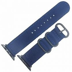 Eternico Apple Watch 42 mm/44 mm Nylon Band tmavo modrý