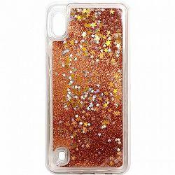 iWill Glitter Liquid Star Case pre Samsung Galaxy A10 Rose Gold