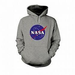 NASA Logo Sivá Mikina XL