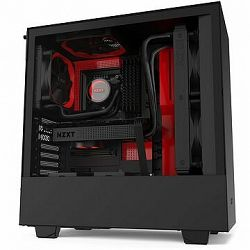NZXT H510 Matte Black Red