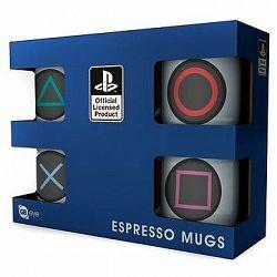 PlayStation - Buttons - espresso sada 4 ks