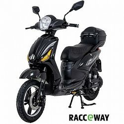 Racceray E-Moped, 12 Ah, čierny-lesklý