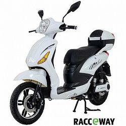 Racceray E-Moped, 20 Ah, biely-lesklý