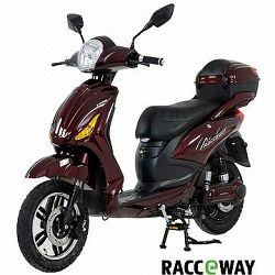 Racceray E-Moped, 20 Ah, vínový-lesklý