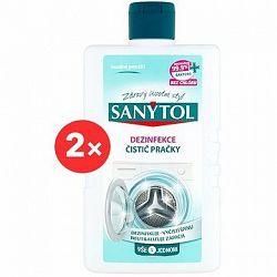 SANYTOL Dezinfekcia čistič práčky 2× 250 ml
