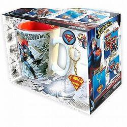Superman set - hrnek, přívešek, 2x odznak